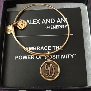Brand New! Alex and Ani Initial charm bangle